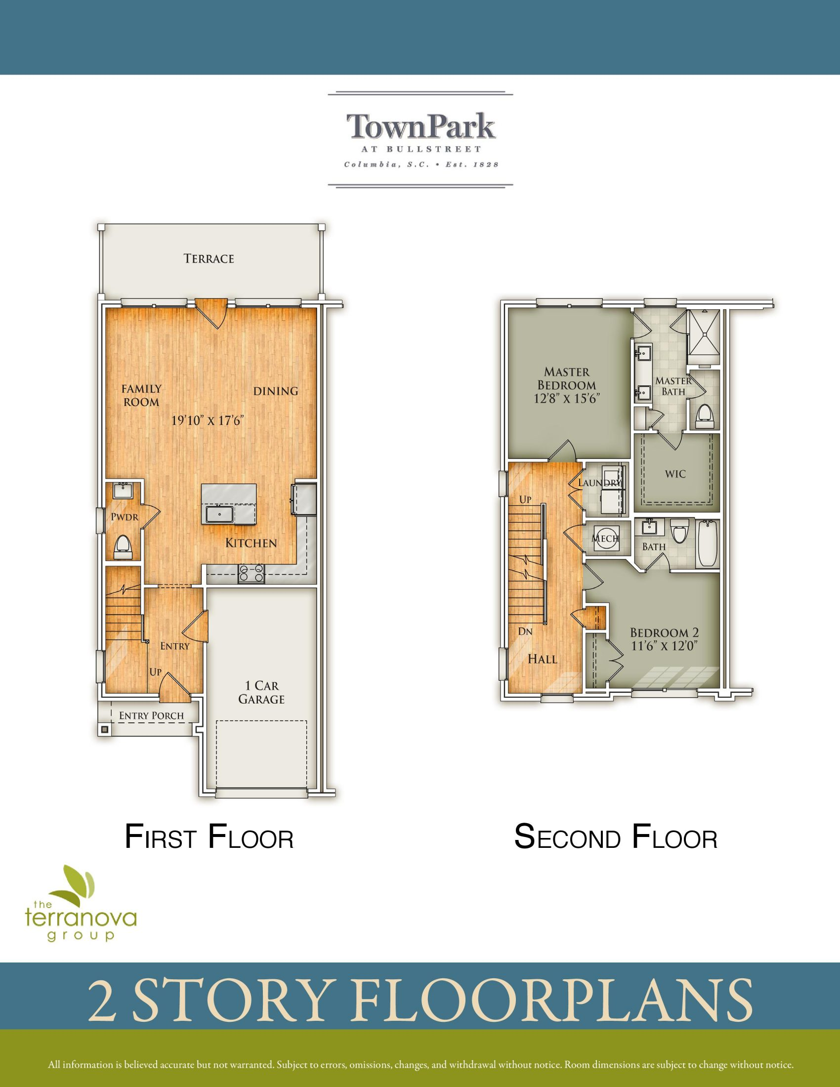 Two-Story Floor Plan First & Second Floor
