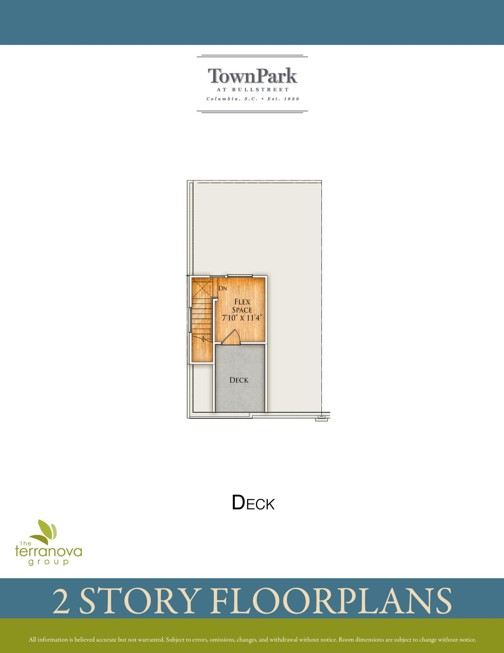 Two-Story Floor Plan Deck